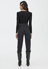 PULL&BEAR - Bluzka z długim rękawem - black - 2