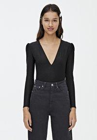 PULL&BEAR - Bluzka z długim rękawem - black - 0