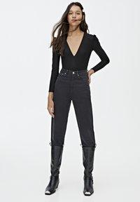 PULL&BEAR - Bluzka z długim rękawem - black - 1