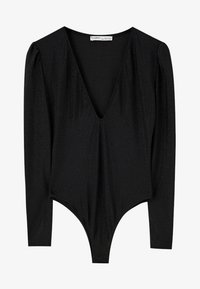 PULL&BEAR - Bluzka z długim rękawem - black - 6