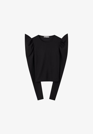 BASIC-SHIRT MIT VOLANT 05234386 - Blouse - black