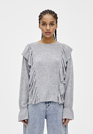 GRAUES SHIRT MIT VOLANTS 05234365 - Blouse - grey