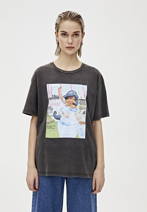 """SHIRT """"JASMIN"""" IN VERWASCHENEM SCHWARZ 05234320 - T-shirt print - black"""