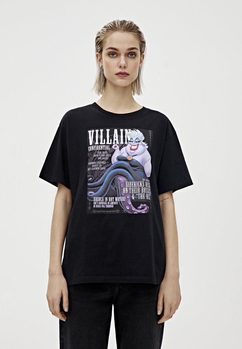 "PULL&BEAR - SHIRT ""URSULA"" IN SCHWARZ 05234321 - Print T-shirt - mottled black"