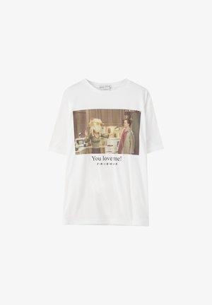 """YOU LOVE ME""  - T-shirt print - white"