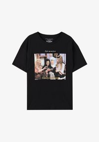 "PULL&BEAR - ""FRIENDS""  - T-shirt imprimé - black - 6"