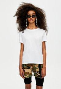 PULL&BEAR - 2 PACK - T-shirt basic - white - 6
