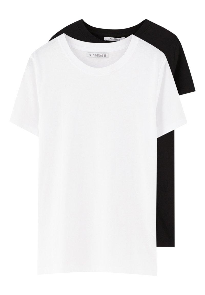 PULL&BEAR - 2 PACK - T-shirt basic - white