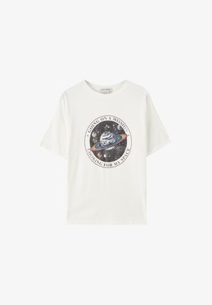 SATURN - T-shirt med print - white