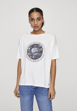 SATURN - T-shirts print - white