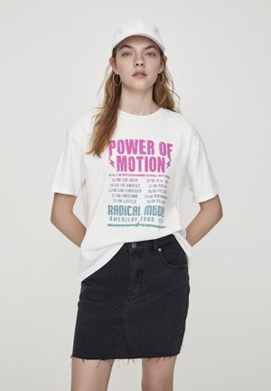 POWER OF MOTION - Print T-shirt - off white