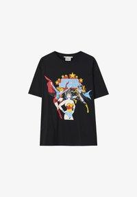 PULL&BEAR - Print T-shirt - black - 6