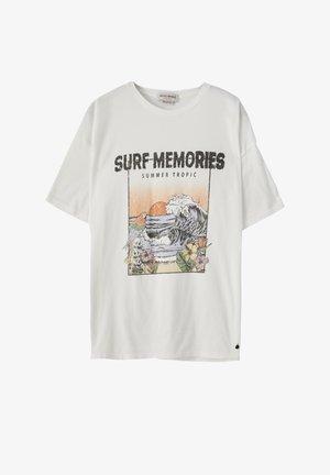 SURF DYTON - Print T-shirt - white