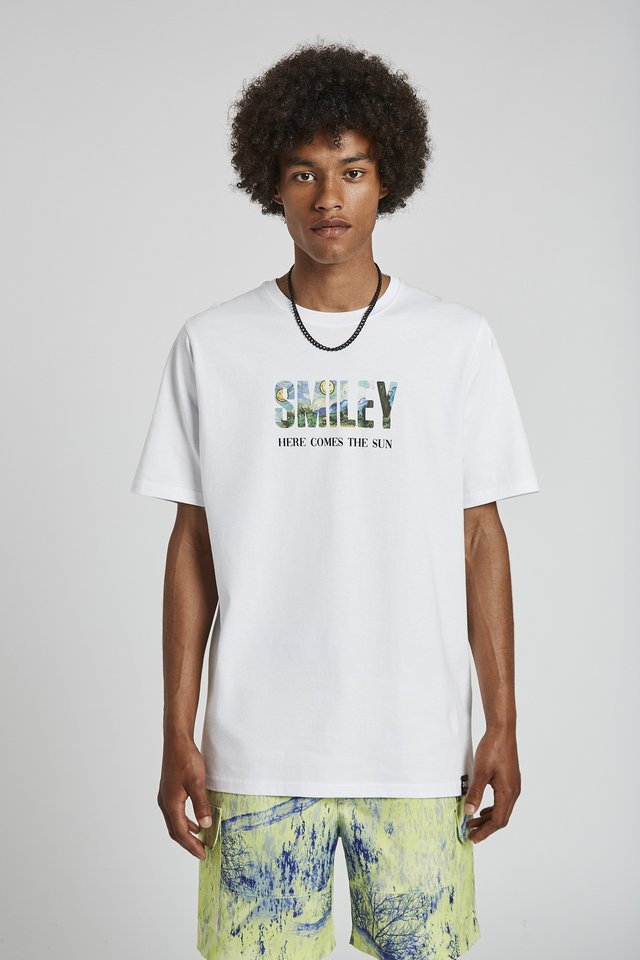 SMILEY - Print T-shirt - white