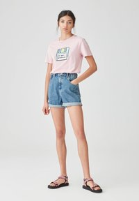 PULL&BEAR - Print T-shirt - rose - 1