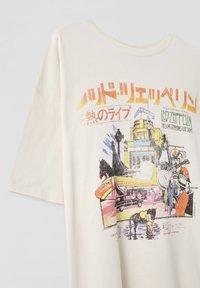 PULL&BEAR - LED ZEPPELIN - T-shirt z nadrukiem - beige - 2