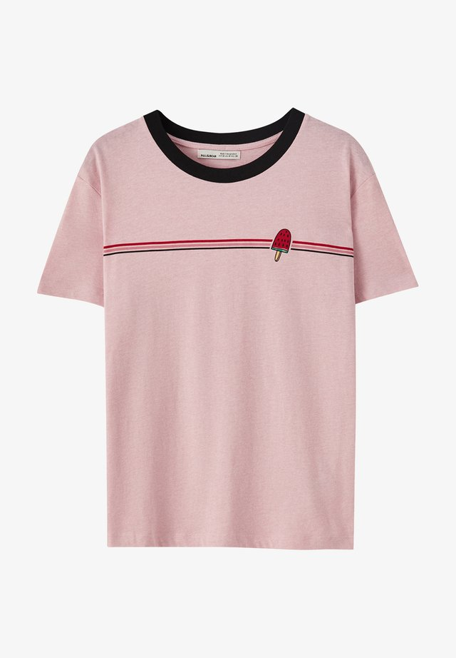 T-shirt z nadrukiem - rose