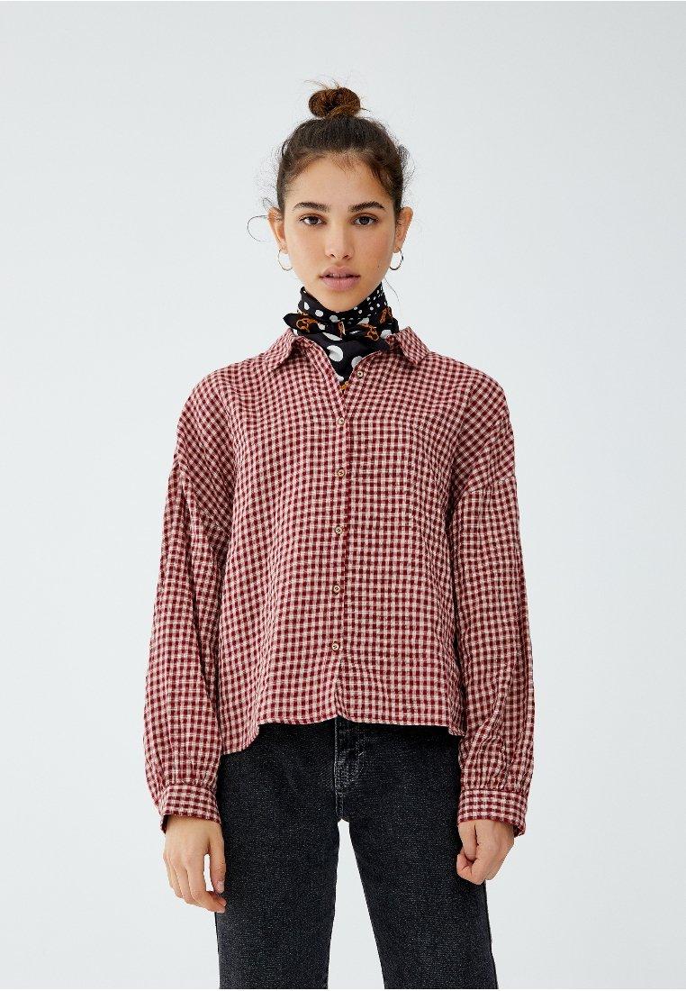 PULL&BEAR - Skjortebluser - red