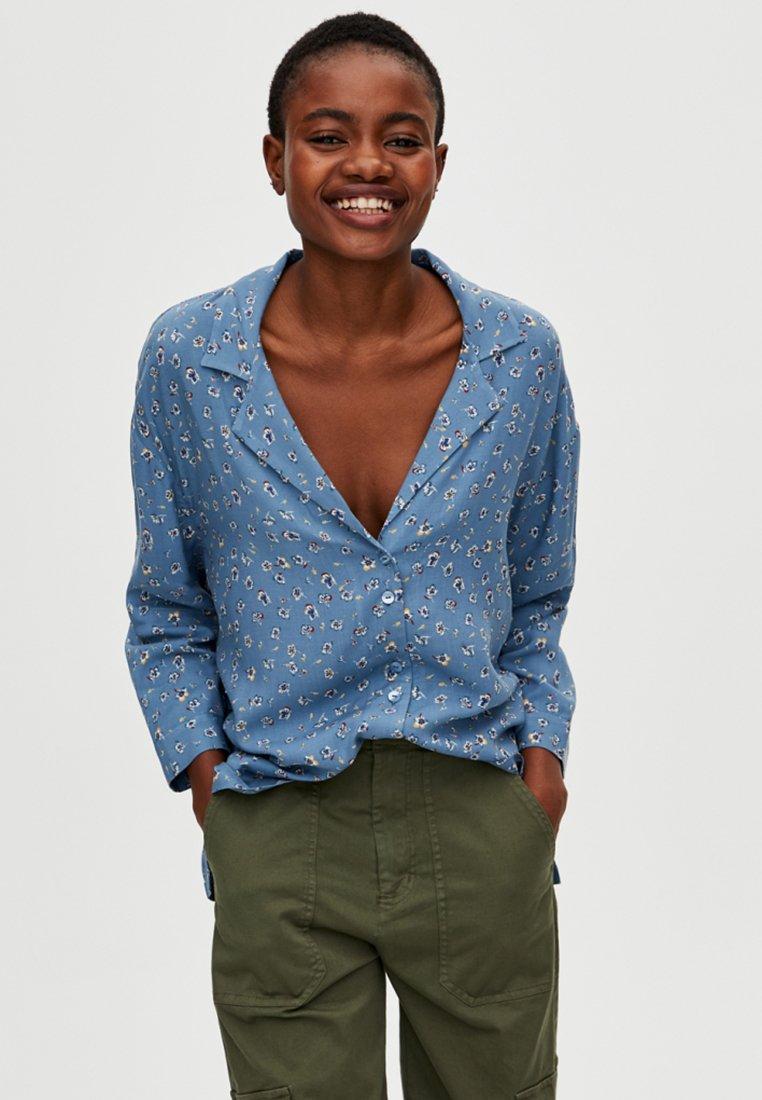 PULL&BEAR - Skjortebluser - light blue