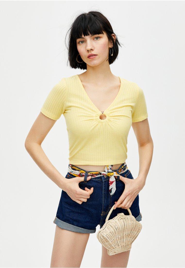 PULL&BEAR - T-Shirt print - yellow