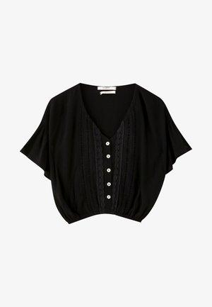 MIT SPITZEN  - Blouse - black