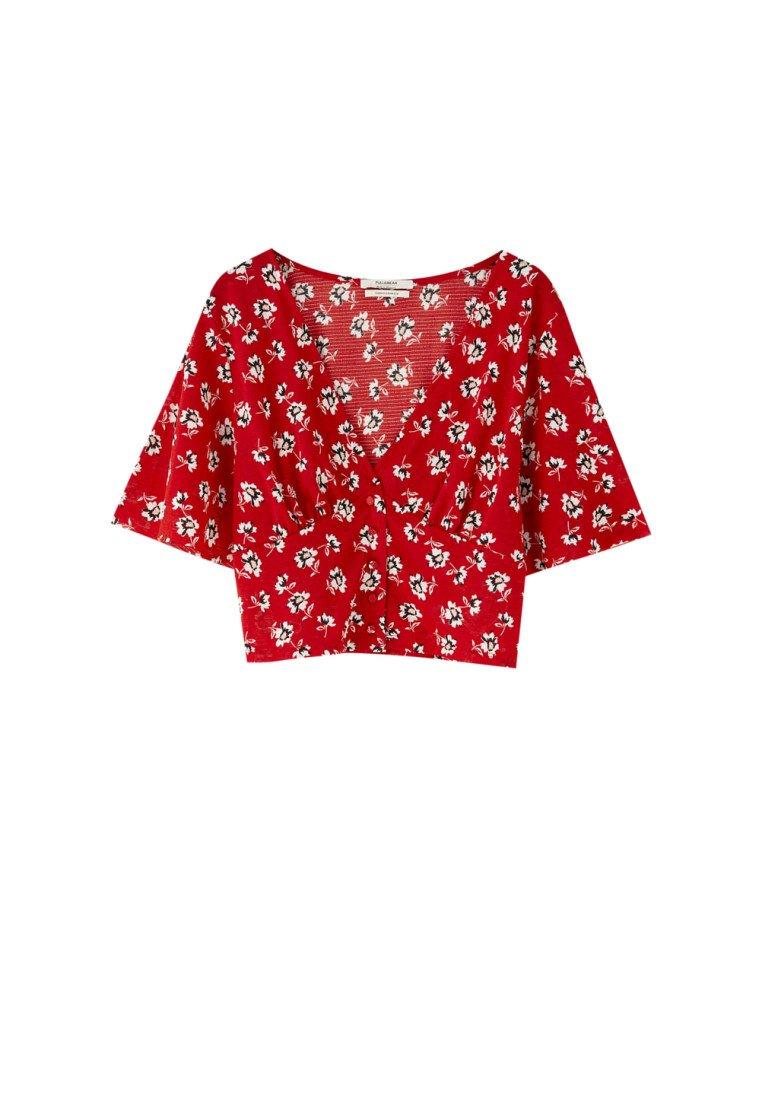 BlumenprintBlouse Red Pull Mit amp;bear iTXkOZuP