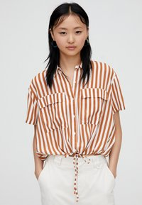 PULL&BEAR - Button-down blouse - brown - 0