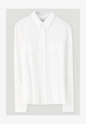 MIT BRUSTTASCHEN - Button-down blouse - white