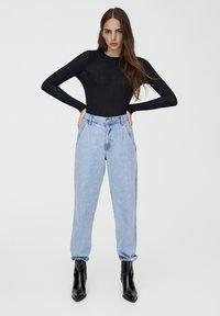 PULL&BEAR - LONGSLEEVE - Bluzka z długim rękawem - black - 1