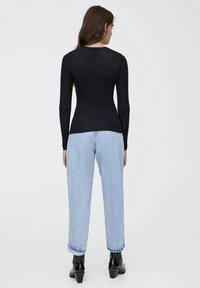 PULL&BEAR - LONGSLEEVE - Bluzka z długim rękawem - black - 2