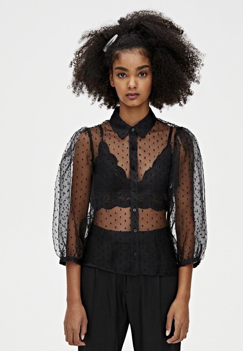PULL&BEAR - Camicia - black