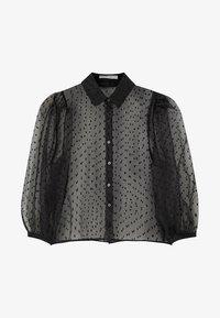 PULL&BEAR - Camicia - black - 6