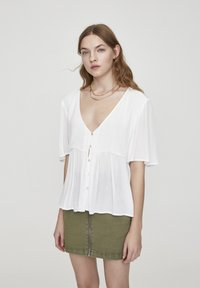 PULL&BEAR - Button-down blouse - white - 0