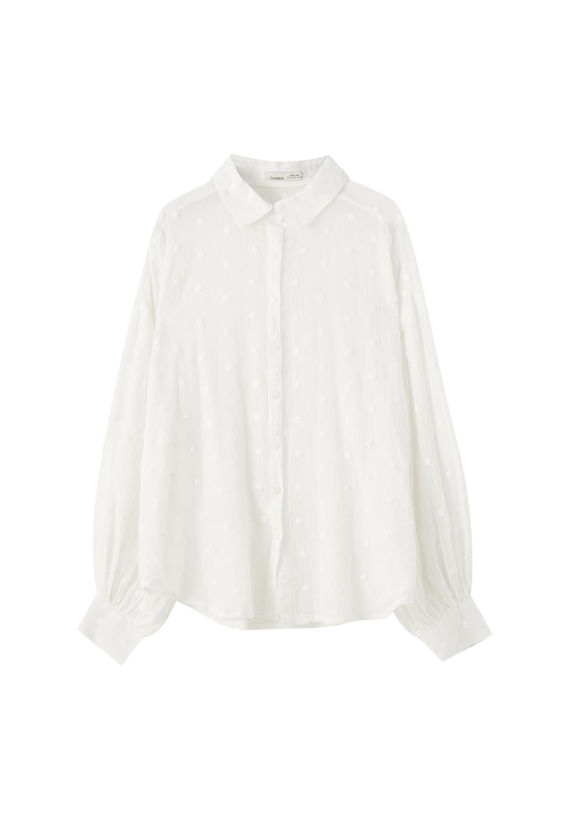 PULL&BEAR - Button-down blouse - off white