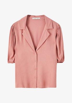 MIT PUFFÄRMELN - Button-down blouse - rose