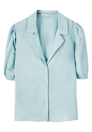 MIT PUFFÄRMELN - Camicia - light blue