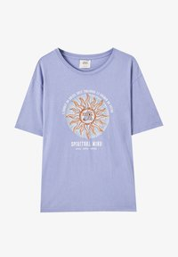 PULL&BEAR - T-shirts print - blue - 0