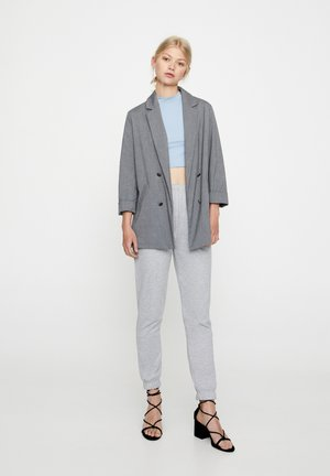 Manteau court - mottled dark grey