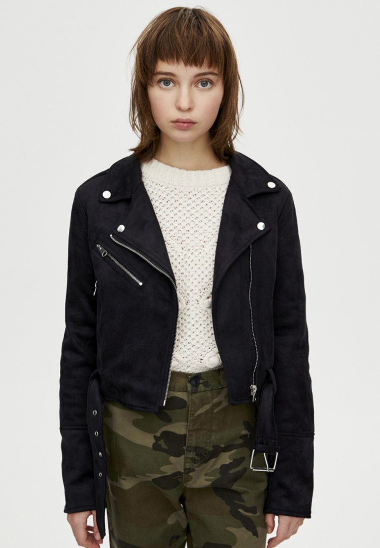 PULL&BEAR - Giacca in similpelle - black