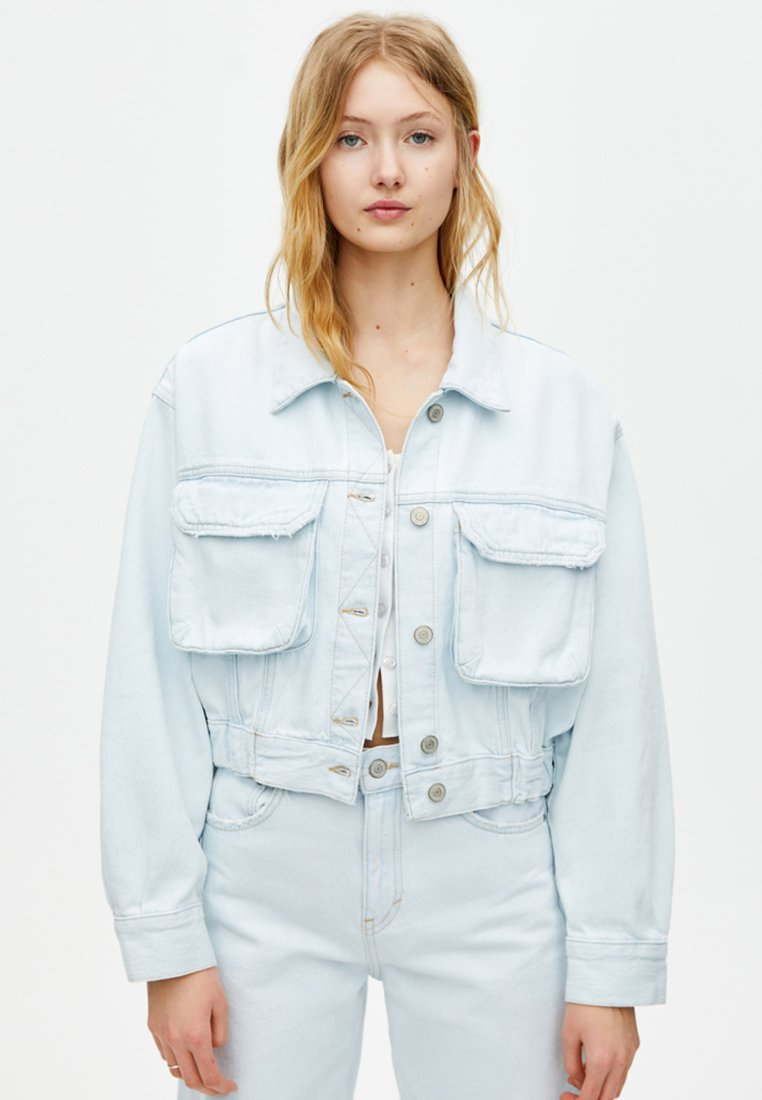PULL&BEAR - Denim jacket - light blue