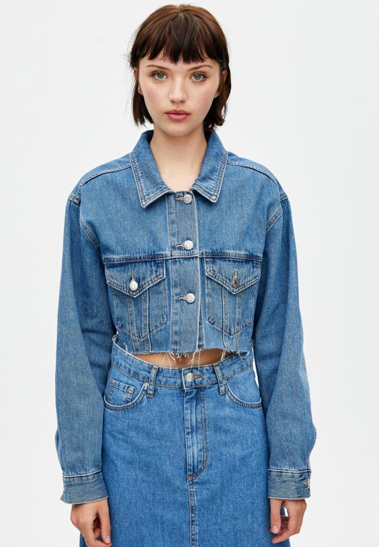 PULL&BEAR - Denim jacket - dark blue