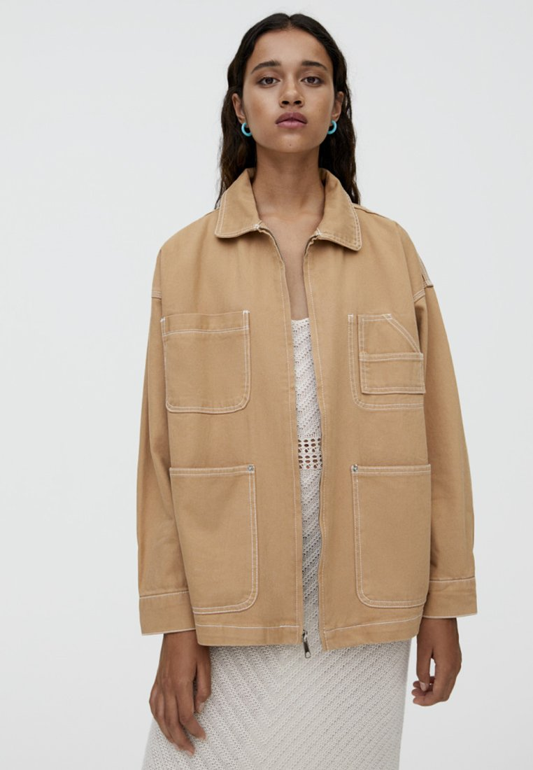 PULL&BEAR - JOIN LIFE - Leichte Jacke - sand
