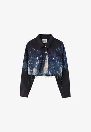 MIT TIE-DYE-PRINT - Giacca di jeans - blue