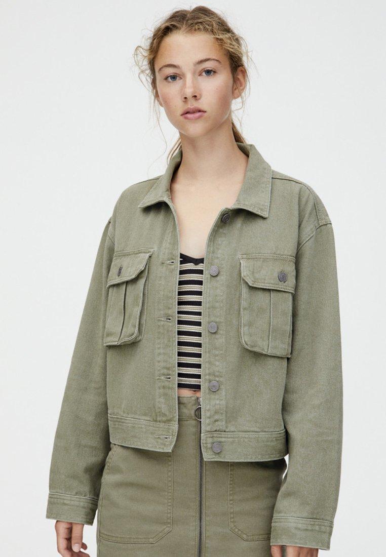 PULL&BEAR - Jeansjacke - khaki