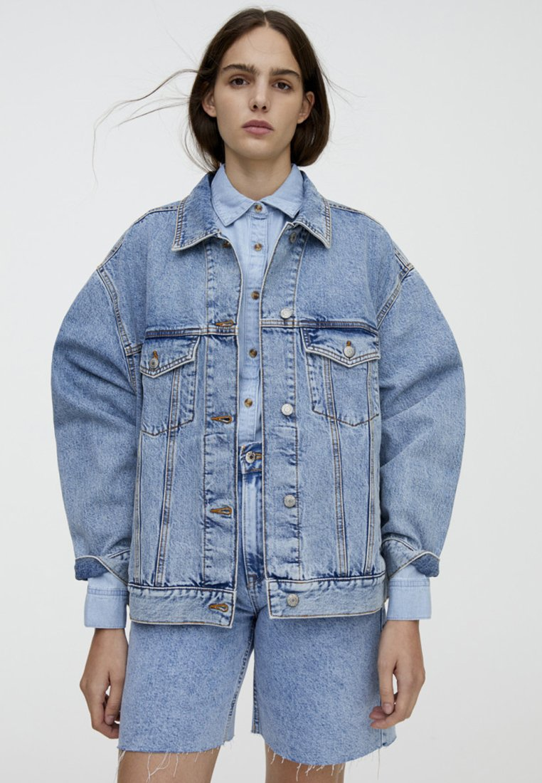PULL&BEAR Giacca di jeans light blue