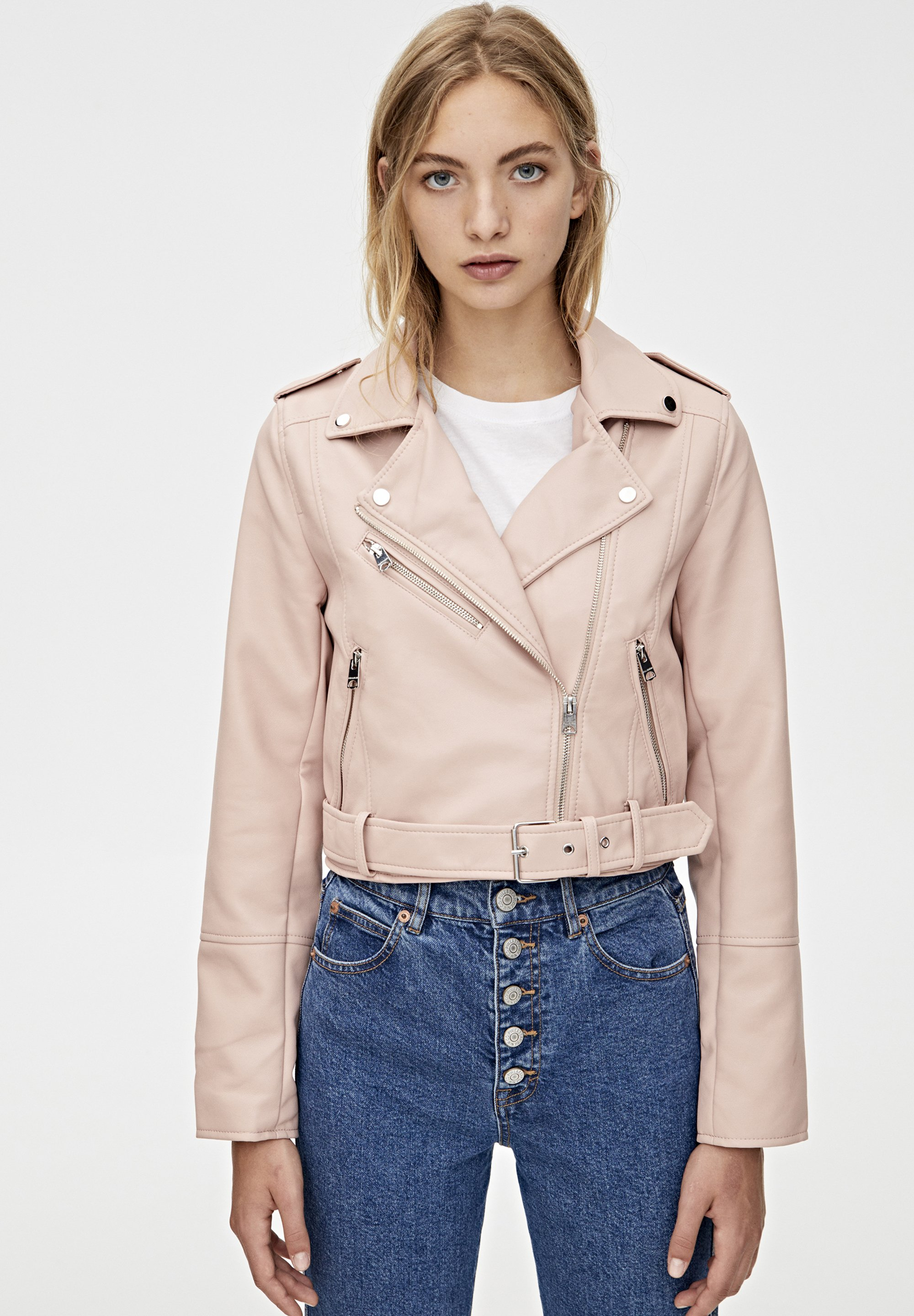 PULL&BEAR Giacca in similpelle rose