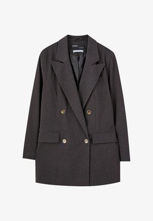 MIT VIER KNÖPFEN. - Krátký kabát - dark grey