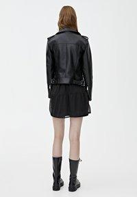 PULL&BEAR - BIKER - Veste en cuir - black - 2