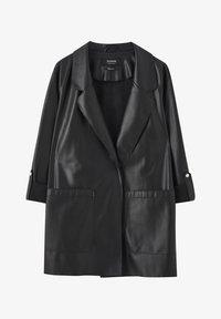 PULL&BEAR - Krátký kabát - black - 5