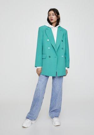 MIT TASCHEN UND KNÖPFEN - Krátký kabát - blue